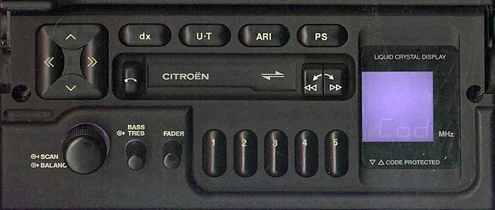 CITROEN PF1 D BP1771 code