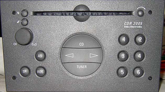 DELCO CDR 2005 E CODE GM0205 code