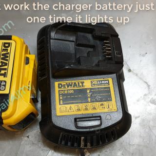 DeWALT DCB105 repair charger battery