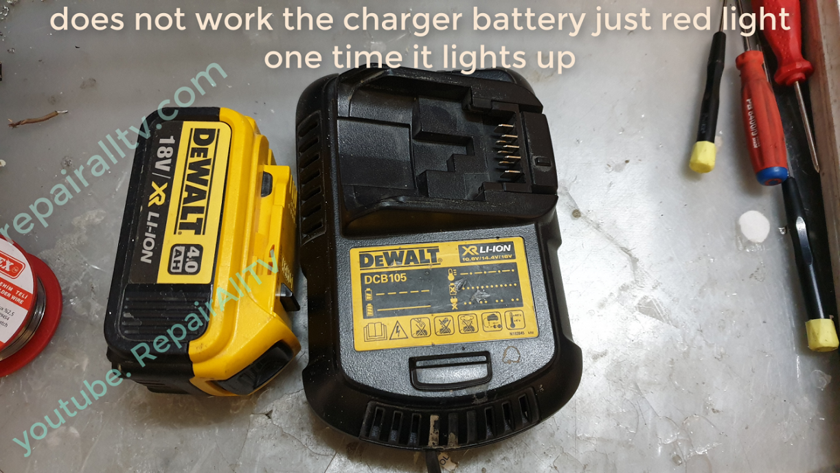 DeWALT DCB105 repair charger battery