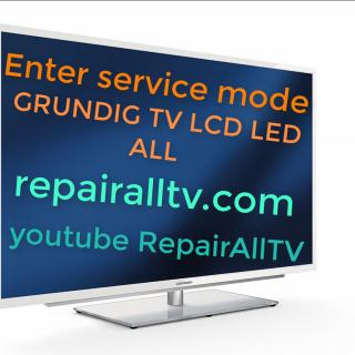 GRUNDIG tv SERVICE MODE MENU