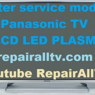 PANASONIC LED LCD PLASMA SERVICE MENU-MODE