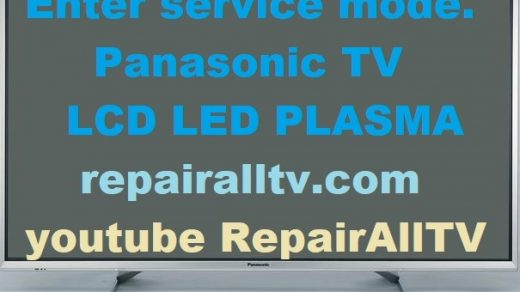 PANASONIC LED LCD PLASMA SERVICE MENU-MODE