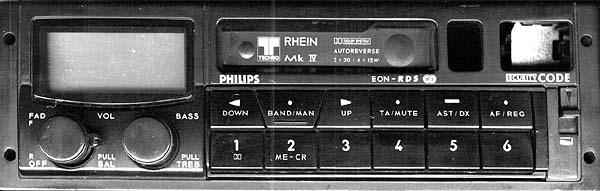 PHILIPS 22 DC711/00 RHEIN MK VI CODE