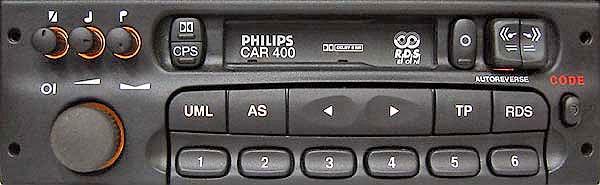 PHILIPS CAR400 MK1 DC396/75E no display CODE