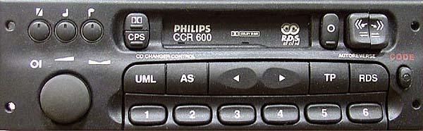 PHILIPS CCR600 MK2 GM0600 CODE