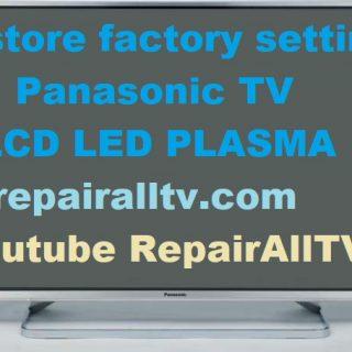 PANASONIC TV restore factory settings