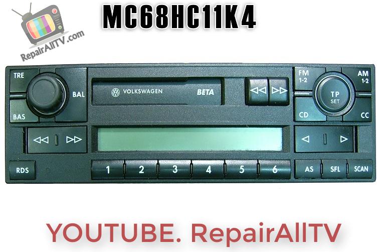 VW BETA5 VWZ2Z2 GRUNDIG CODE MC68HC11KA4