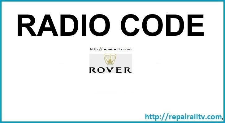 ROVER R660 22DC349/60E PHILIPS code