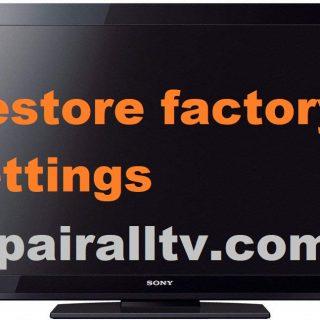 SONY restore factory settings