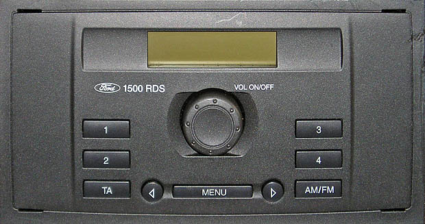ford 1500 RDS MEDIALESS only tuner code