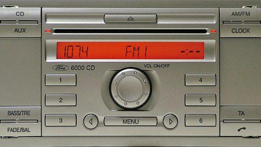 ford 6000 CD RADIO SINGLE CD GGDS 6M2T-18C815-AF code