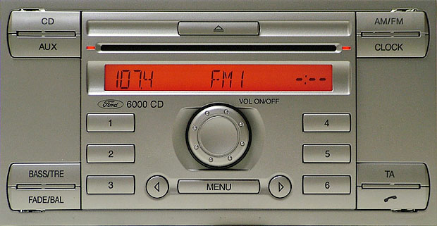 ford 6000 CD RADIO SINGLE CD GGDS 6M2T-18C815-AF code