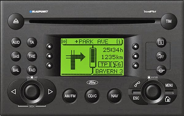 ford TRAVEL PILOT 256 blaupunkt code