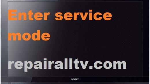 SONY LED LCD ENTER SERVICE MODE MENU