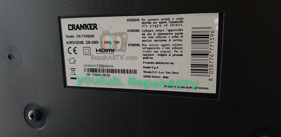 CRANKER CR-TV39300 SOFTWARE