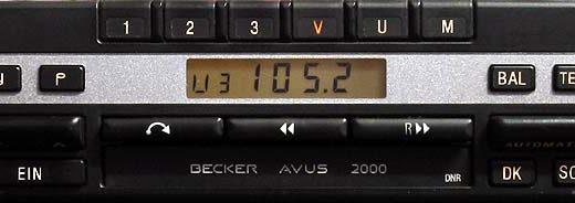 becker AVUS 2000 24v be 1146 code