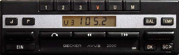 becker AVUS 2000 24v be 1146 code
