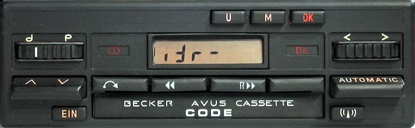BECKER AVUS CASSETTE code radio
