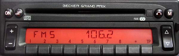 BECKER GRAND PRIX 2000 CD panel be2237 code
