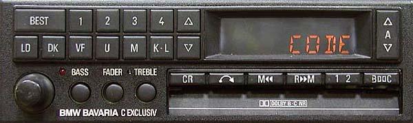 BMW BAVARIA C EXCLUSIV be 0729 code