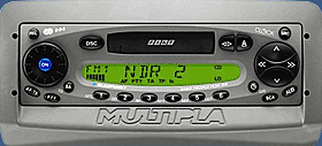 FIAT MULTIPLA blaupunkt code