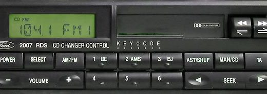 FORD 2007 RDS CD control code