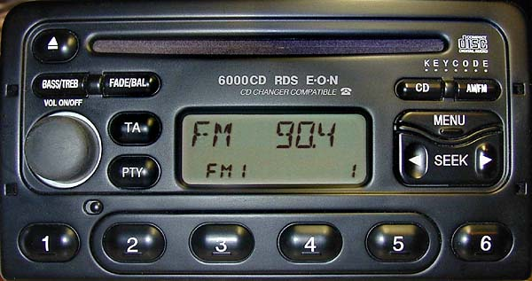 FORD 6000 CD RDS code