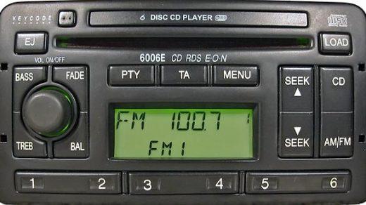 FORD 6006E CD RDS EON code
