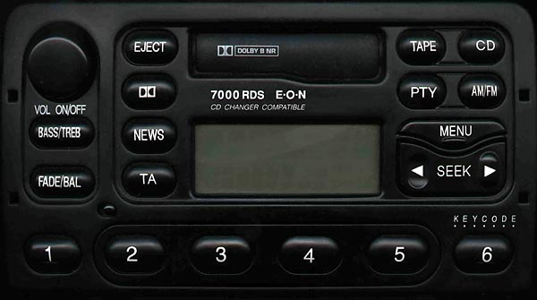 FORD 7000 RDS EON code