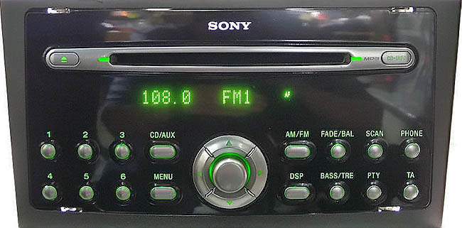 FORD SONY CD132 MP3 3S7T 18C939 AD CDX FS132 visteon code
