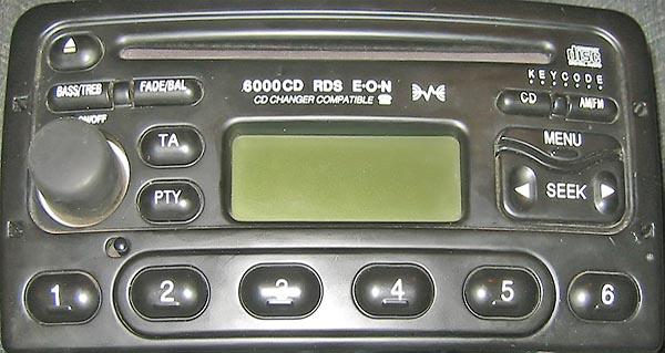 ford 6000 CD DIVERSITY XS7F-18C815-AB code