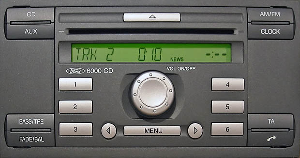 ford 6000 CD SINGLE CD KW2000 code