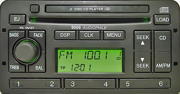 ford 9006 AUDIOPHILE 6CD 3S41 18C815 CA code
