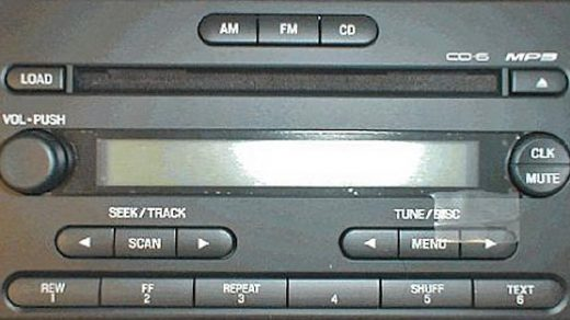 ford CD-6 MP3 4L5T 18C815 AG code