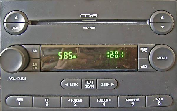 ford CD-6 MP3 DZU7A 7L2T 18C815 AC code
