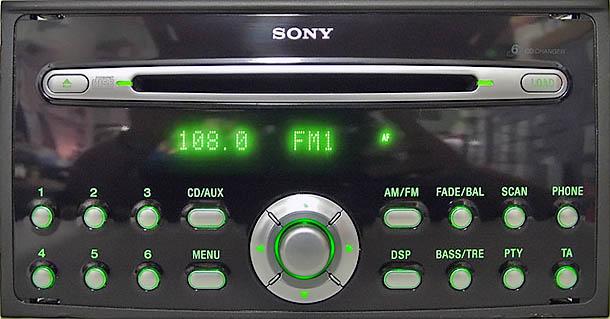 ford SONY C307 C214 MP3 RDS 3M5T 18C815 HJ visteon code