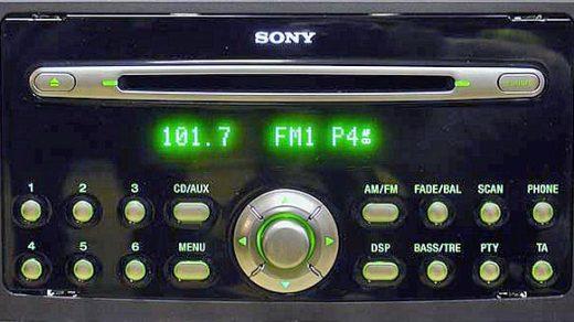 ford SONY C307 C214 MP3 RDS CDX FS214 4M5T 18C815 BK visteon code