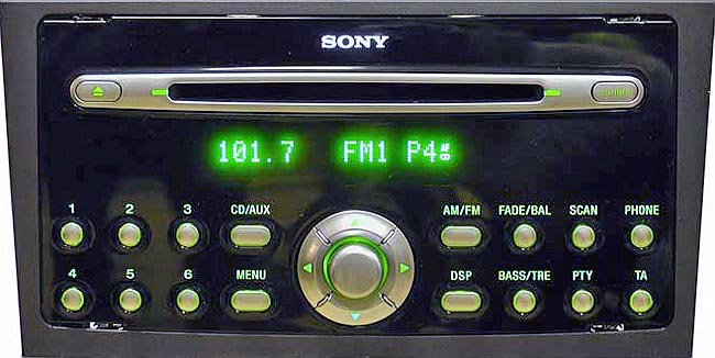 ford SONY C307 C214 MP3 RDS CDX FS214 4M5T 18C815 BK visteon code