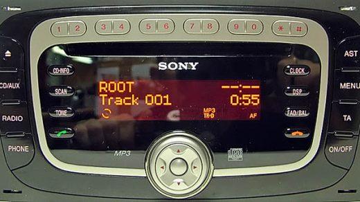 ford SONY CD3XX CDI RECT KW2000 7M5T 18C939 AD CDX FS214AD visteon code