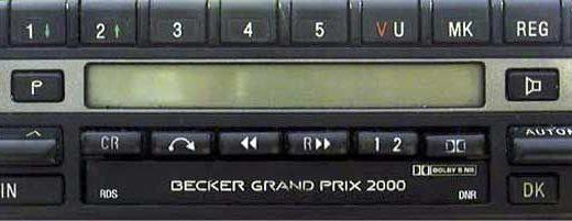 BECKER GRAND PRIX 2000 RDS BE1319 code