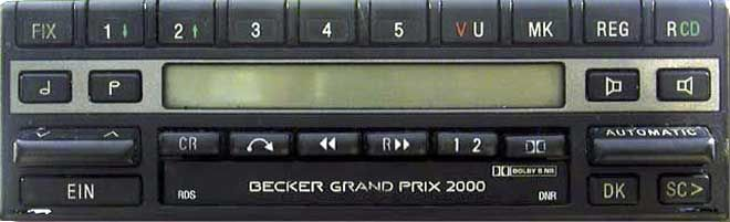 BECKER GRAND PRIX 2000 RDS BE1319 code