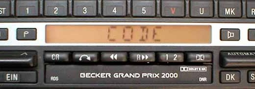 BECKER GRAND PRIX 2000 RDS be1302 code