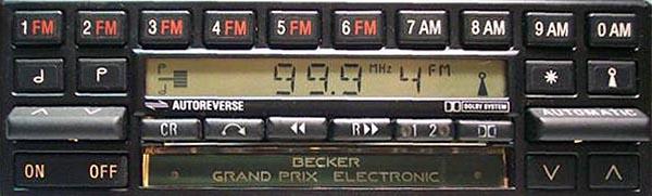 BECKER GRAND PRIX ELECTRONIC be754 code