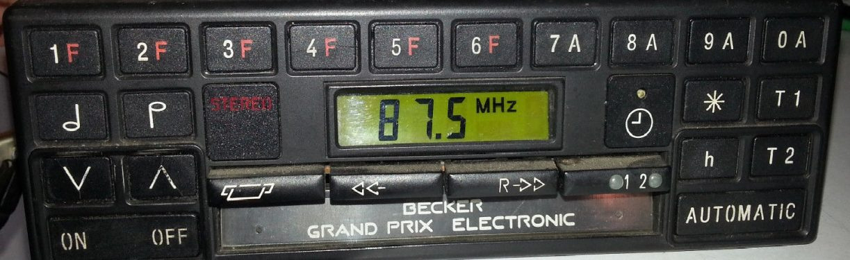 BECKER GRAND PRIX ELECTRONIC code