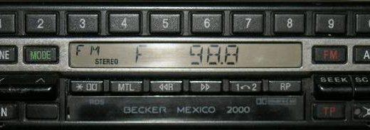 BECKER MEXICO 2000 RDS be1560 code