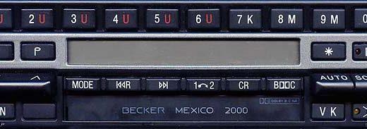 BECKER MEXICO 2000 be1430 code