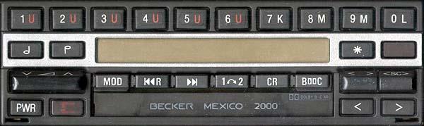 BECKER MEXICO 2000 be1431 code