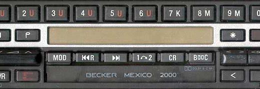 BECKER MEXICO 2000 be1432 code