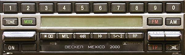 BECKER MEXICO 2000 be1460 code